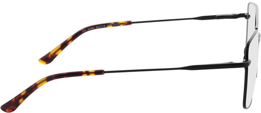 Picture of glasses model El Paso-noir in angle 90