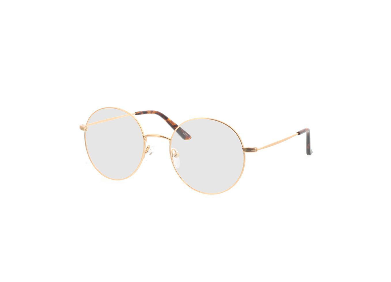 4250325291232-singlevision-0000 Orsa-gold Gleitsichtbrille, Vollrand, Rund OMNIO by Brille24