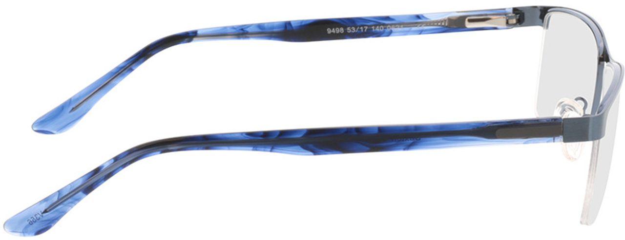 Picture of glasses model Daxton-matt blau/blau-meliert in angle 90