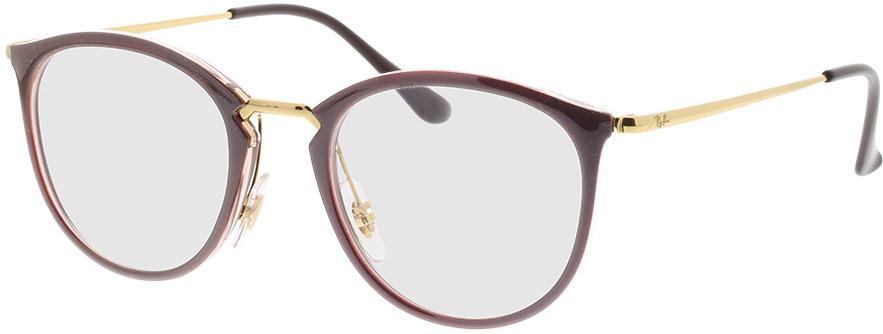 Picture of glasses model Ray-Ban RX7140 5971 49-20 in angle 330