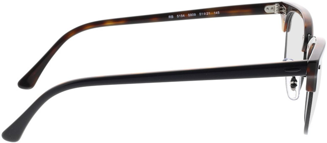 Picture of glasses model Ray-Ban Clubmaster RX5154 5909 51-21 in angle 90