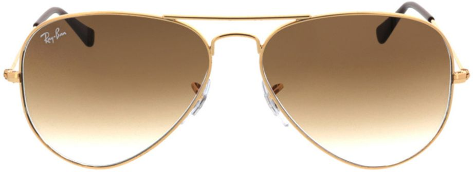 Picture of glasses model Ray-Ban Aviator RB3025 001/51 58-14 in angle 0
