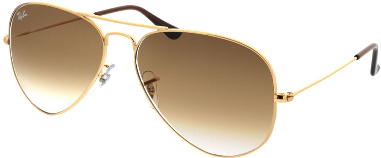 Picture of glasses model Ray-Ban Aviator RB3025 001/51 58-14 in angle 330