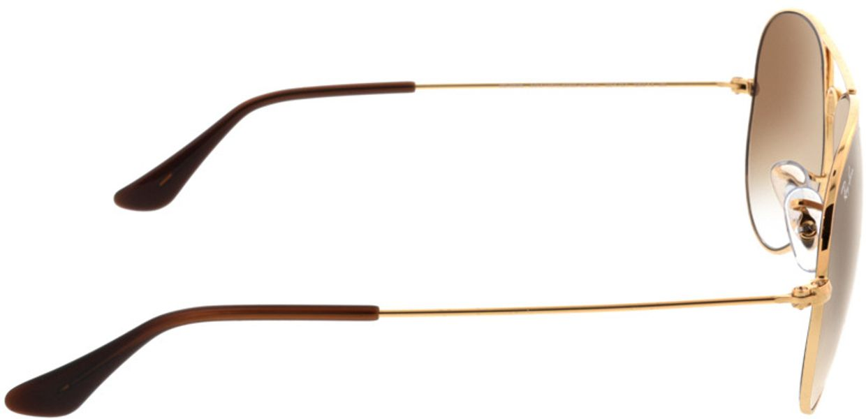 Picture of glasses model Ray-Ban Aviator RB3025 001/51 58-14 in angle 90