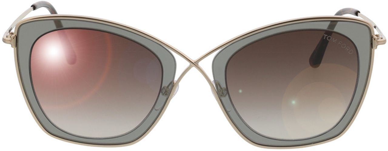 Picture of glasses model Tom Ford India FT0605 50K in angle 0