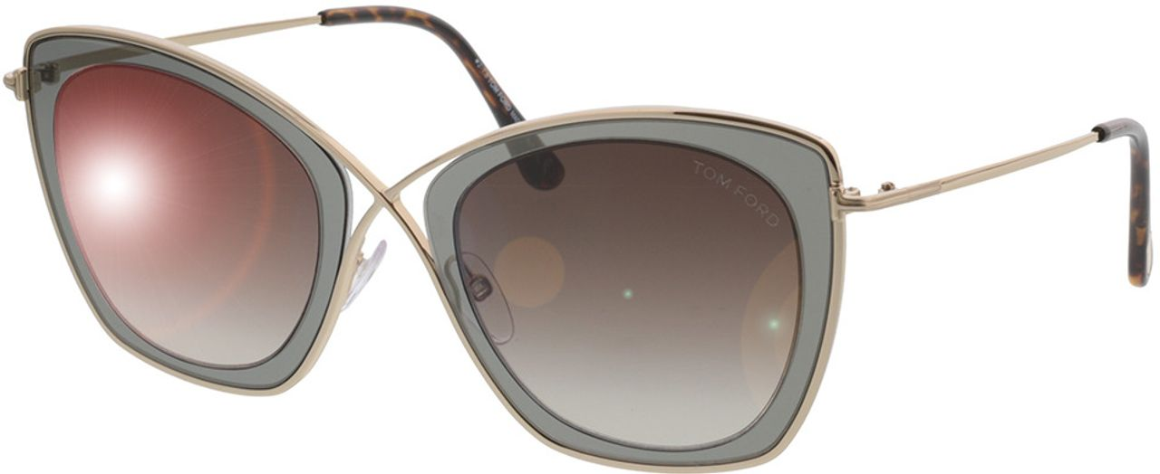 Picture of glasses model Tom Ford India FT0605 50K in angle 330