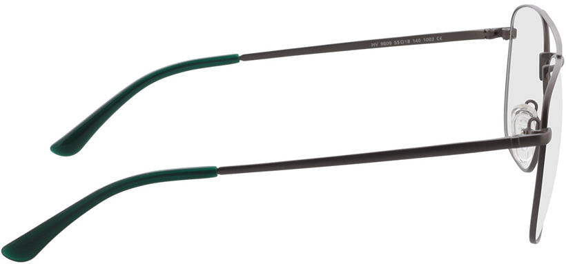 Picture of glasses model Gordon antraciet/groen in angle 90