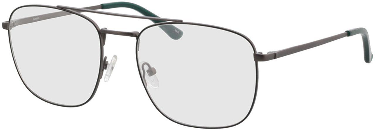 Picture of glasses model Gordon-anthrazit/grün in angle 330