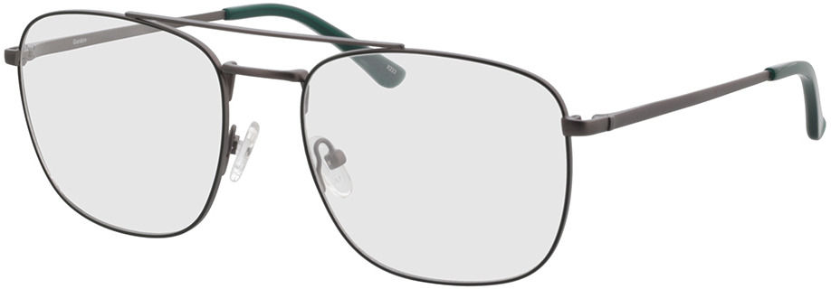 Picture of glasses model Gordon antraciet/groen in angle 330
