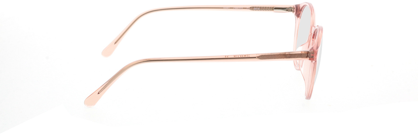 Picture of glasses model Mesa-rosa-transparent in angle 90