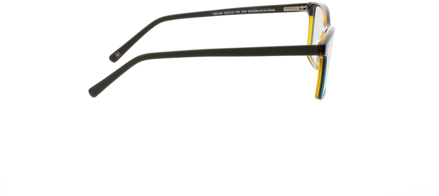 Picture of glasses model Marzio-schwarz transparent gelb in angle 90