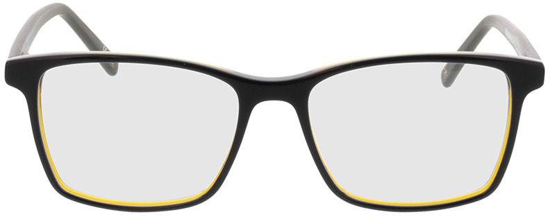 Picture of glasses model Marzio-schwarz transparent gelb in angle 0