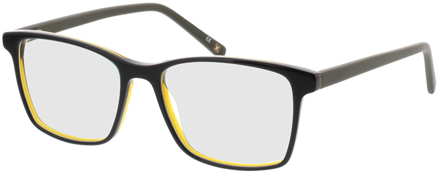 Picture of glasses model Marzio-schwarz transparent gelb in angle 330