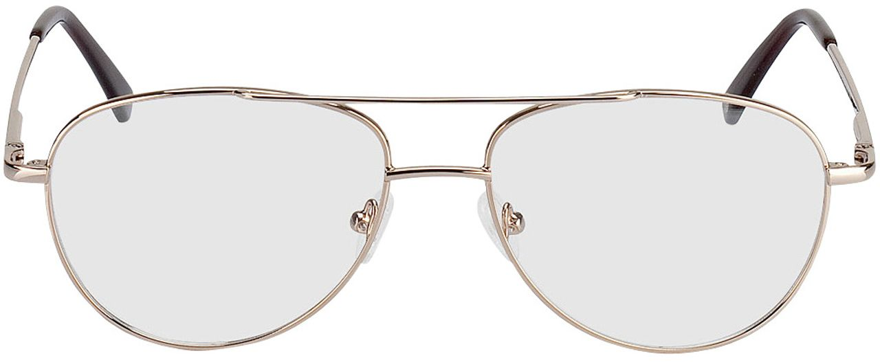 Picture of glasses model Glendale-gold in angle 0