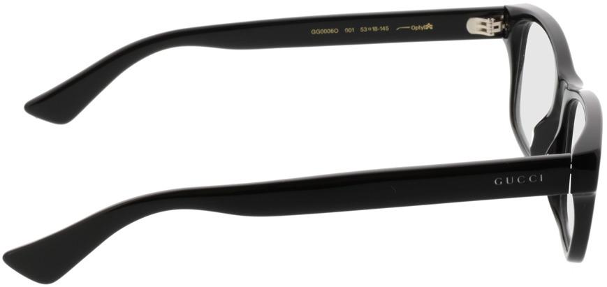 Picture of glasses model Gucci GG0006O-001 53-18 in angle 90