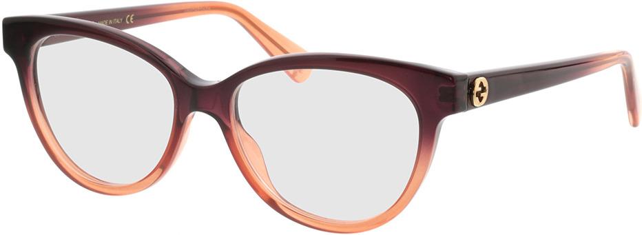 Picture of glasses model Gucci GG0373O-003 52-16 in angle 330