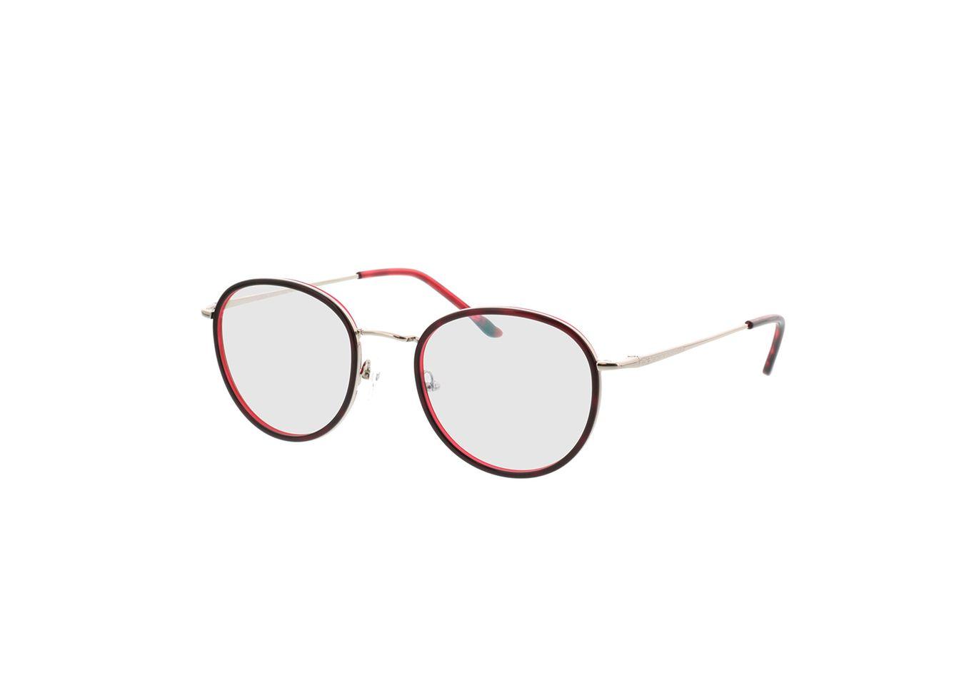 4891-singlevision-0000 Valby-rot/silber Gleitsichtbrille, Vollrand, Rund Brille24 Collection