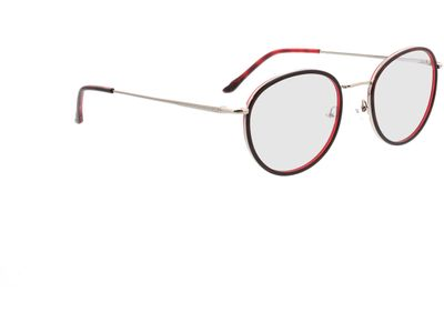Brille Valby-rot/silber