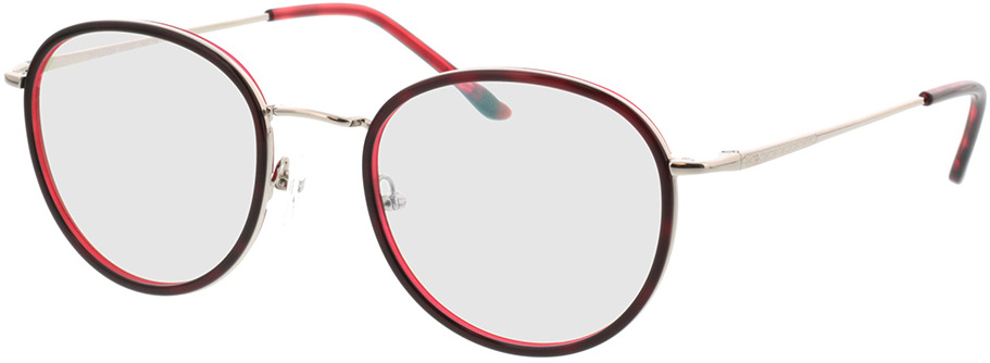 Picture of glasses model Valby-rot/silber in angle 330