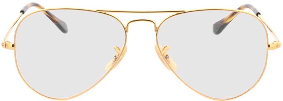 Picture of glasses model Ray-Ban Aviator RX6489 2500 55-14 in angle 0