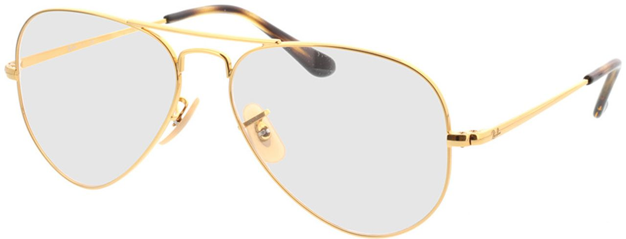 Picture of glasses model Ray-Ban Aviator RX6489 2500 55-14 in angle 330