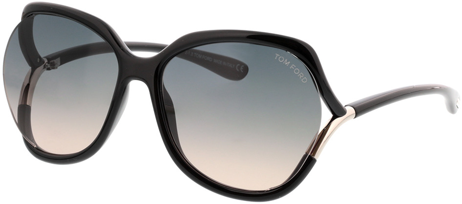 Picture of glasses model Tom Ford Anouk FT0578 01B  in angle 330