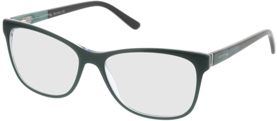 Picture of glasses model Comma70016 50 türkis/schwarz 52-15 in angle 330