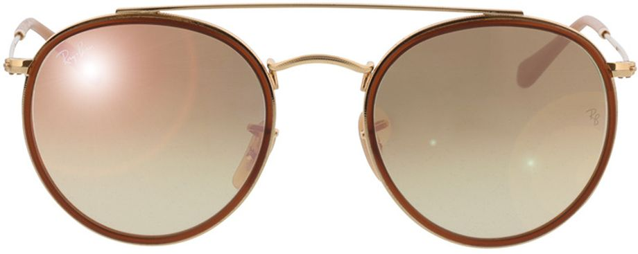 Picture of glasses model Ray-Ban Round Double Bridge RB3647N 001/7O 51-22 in angle 0