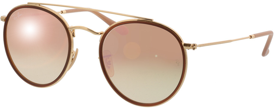 Picture of glasses model Ray-Ban Round Double Bridge RB3647N 001/7O 51-22