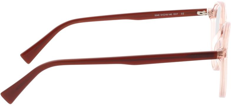 Picture of glasses model Olbia-braun-transparent/orange in angle 90
