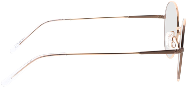 Picture of glasses model Comma, 70095 76 dourado 50-19 in angle 90