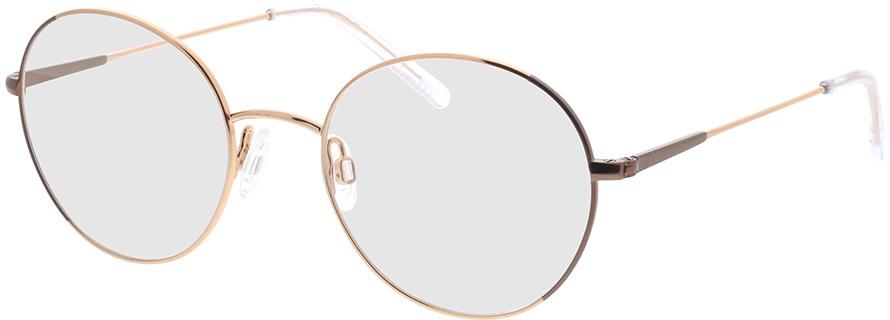 Picture of glasses model Comma, 70095 76 dourado 50-19 in angle 330