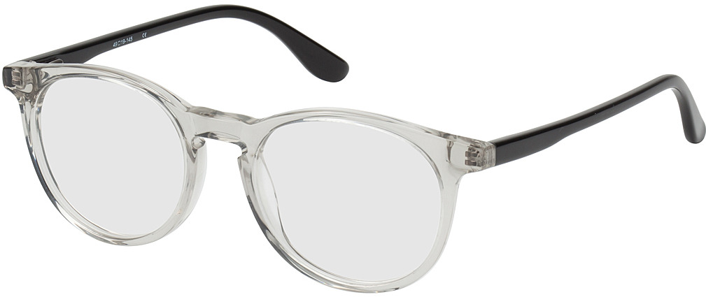Picture of glasses model Bayonne-transparent/schwarz in angle 330