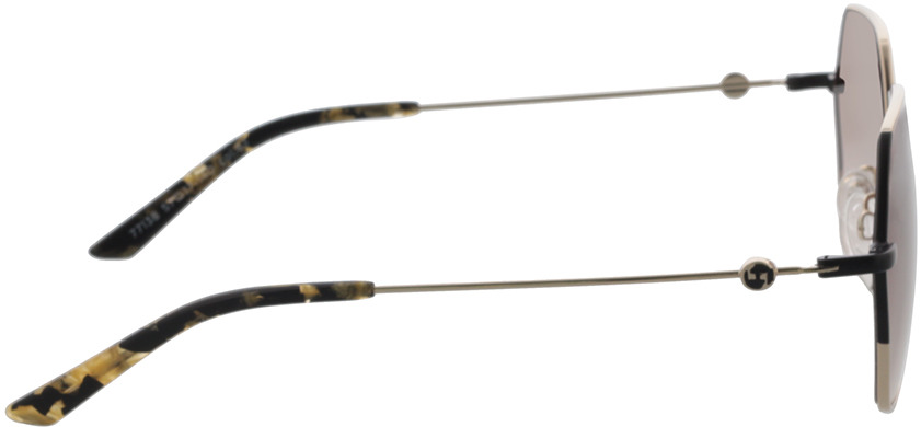 Picture of glasses model Comma, 77138 83 hellgold/schwarz 57-17 in angle 90