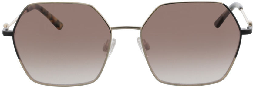 Picture of glasses model Comma, 77138 83 hellgold/schwarz 57-17 in angle 0