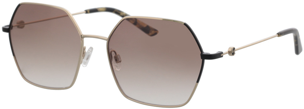 Picture of glasses model Comma, 77138 83 hellgold/schwarz 57-17 in angle 330