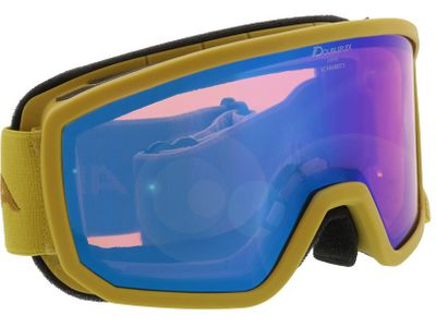 Brille Alpina Skibrille SCARABEO S HM curry MIRROR blue