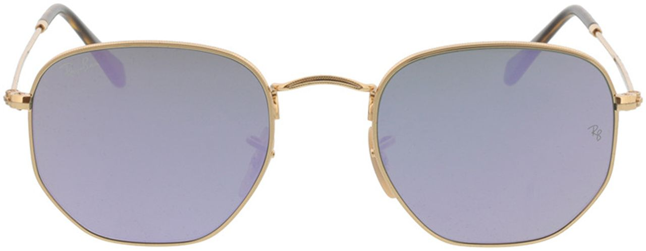 Picture of glasses model Ray-Ban Hexagonal Flat Lenses RB3548N 001/8O 51-21 in angle 0