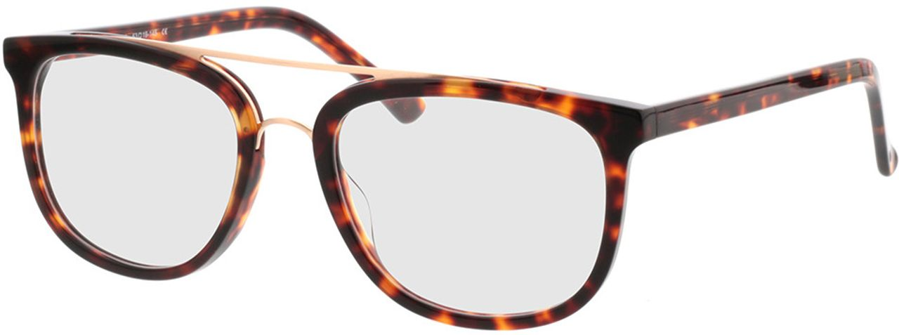 Picture of glasses model Makasar-braun-meliert in angle 330
