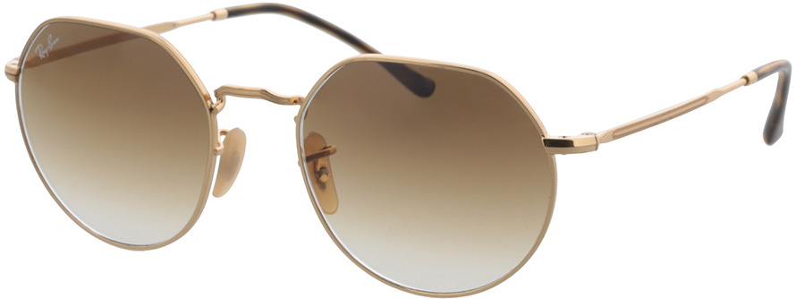 Picture of glasses model Ray-Ban RB3565 001/51 53-20 in angle 330