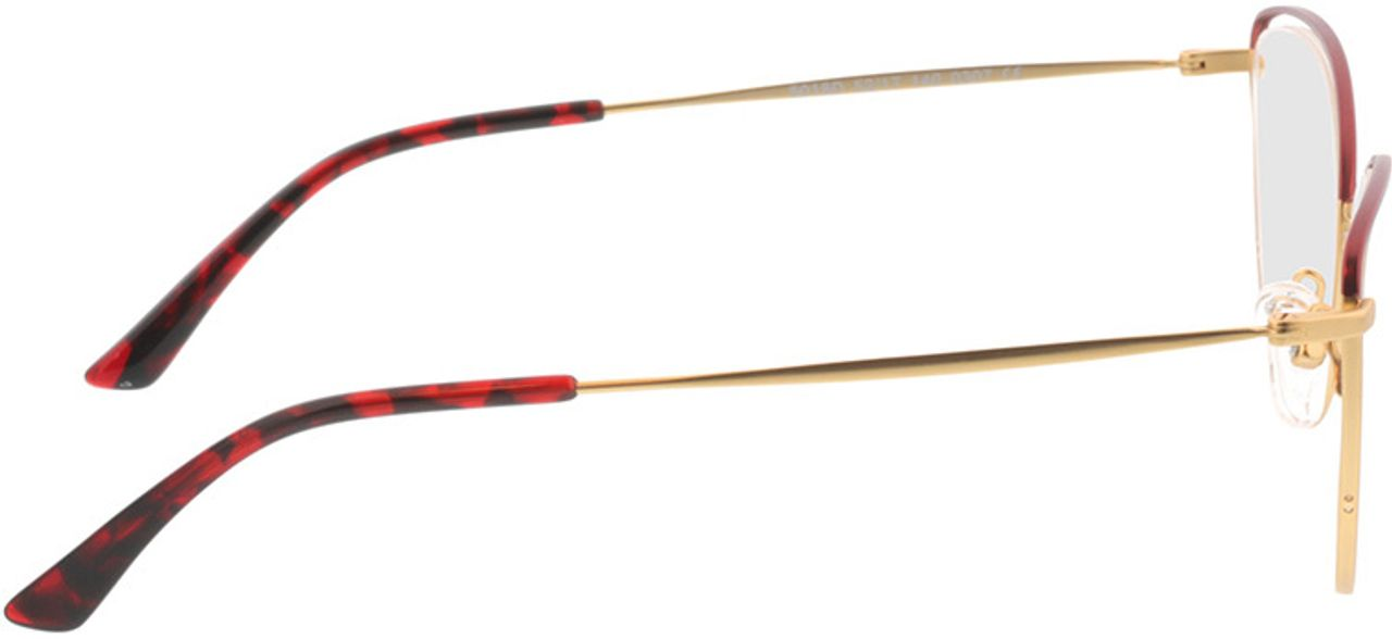 Picture of glasses model Juna-gold/rot in angle 90