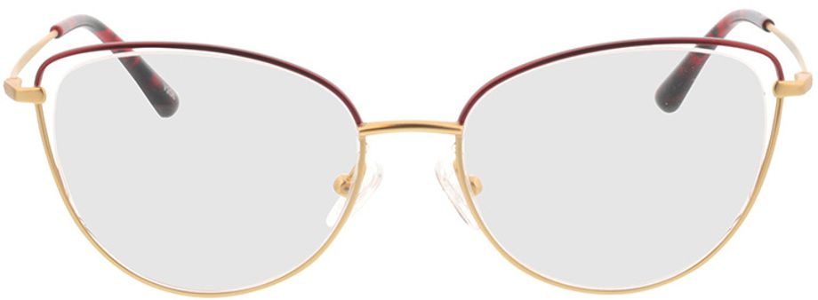 Picture of glasses model Juna-gold/rot in angle 0