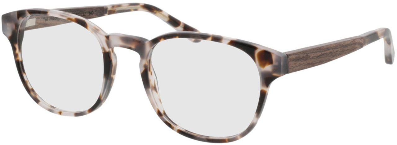 Picture of glasses model TAKE A SHOT Tali Pebble RX: Walnussholz 50-22 in angle 330