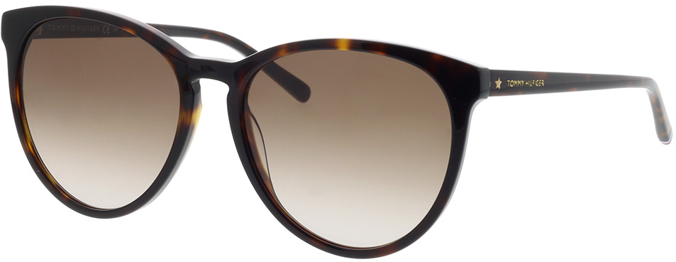 Picture of glasses model Tommy Hilfiger TH 1724/S 086 56-17 in angle 330