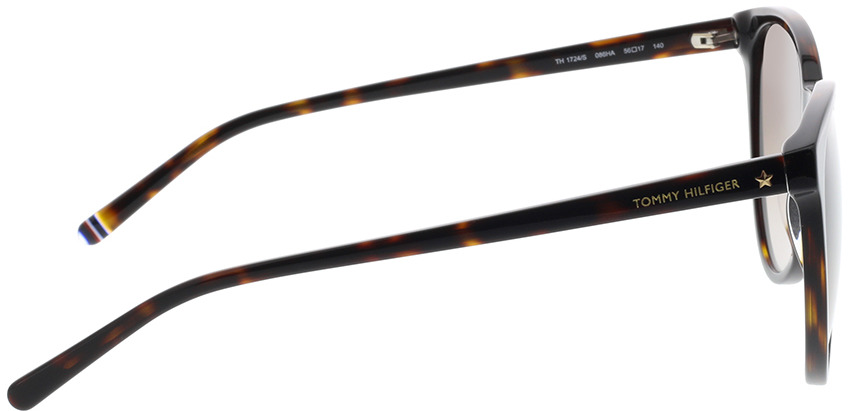 Picture of glasses model Tommy Hilfiger TH 1724/S 086 56-17 in angle 90