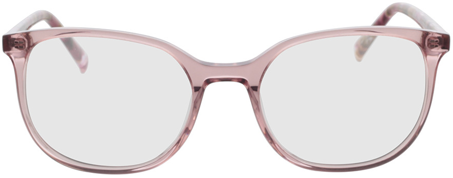 Picture of glasses model Colima-pink-transparent in angle 0