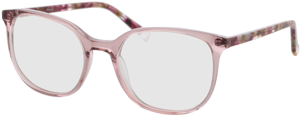 Picture of glasses model Colima-pink-transparent in angle 330