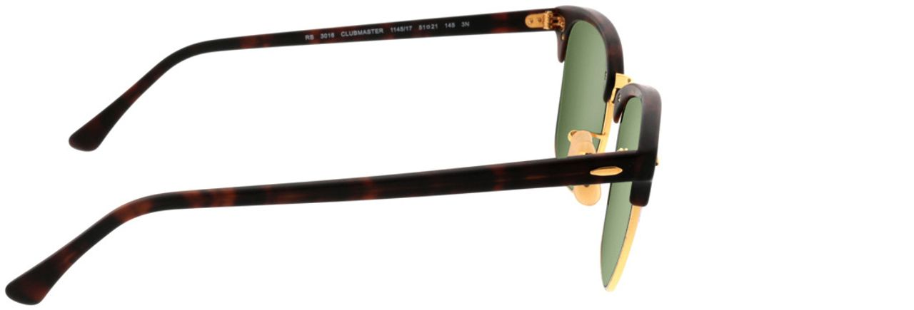Picture of glasses model Ray-Ban Clubmaster RB3016 114517 51-21 in angle 90