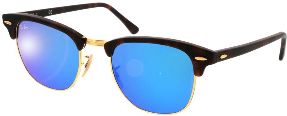 Picture of glasses model Ray-Ban Clubmaster RB3016 114517 51-21 in angle 330