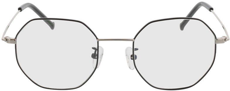 Picture of glasses model Lennox-schwarz/silber in angle 0
